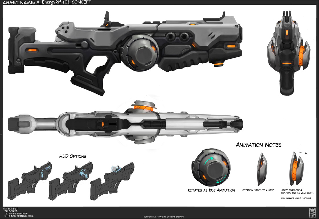"ENERGY RIFLE - RED 5 ""Firefall"""